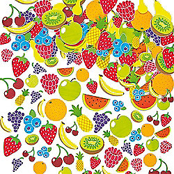 Kids Crafts Fruit Foam Stickers (Pack of 120)