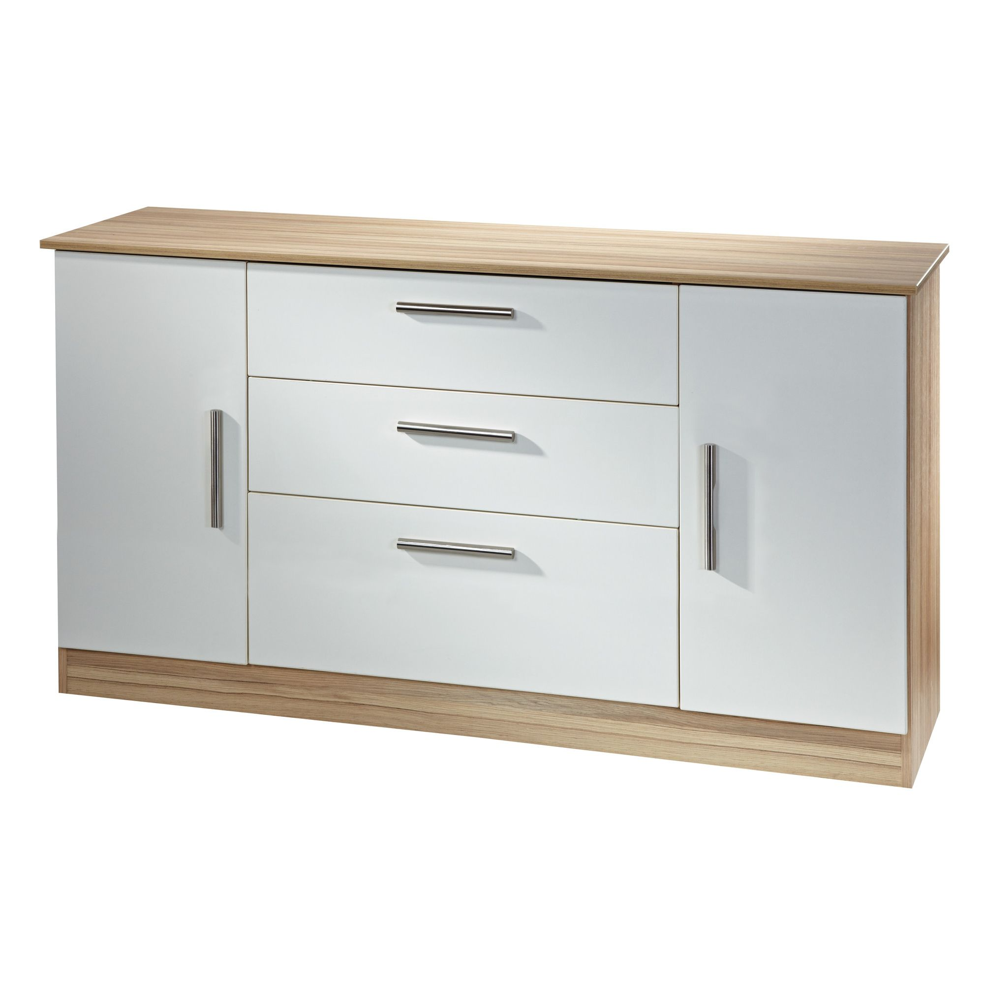 Welcome Furniture Living Room Wide 2 Door / 3 Drawer Unit - Modern Oak at Tesco Direct