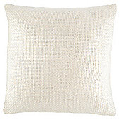 Metallic Print Knit Cushion Silver