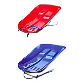 Set Of Two Delta Sled / Sledges (One Red, One Blue)
