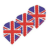 HARROWS Dimplex Holographic Union Jack Dart Flights