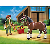 Playmobil Shire Horse/Groomer/Stable