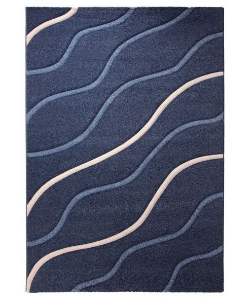 Esprit Campus Dark Blue Contemporary Rug - 70cm x 140cm