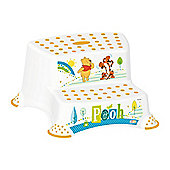 Disney Winnie the Pooh Double Step Stool - White