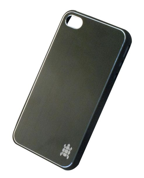 Tortoise™ Hard Case iPhone 4/4S Brushed Metal Black