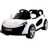 Kids Super Sports Ride On Car With Remote Control - White
