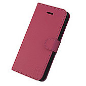 Tortoise™ Look Genuine Leather Folio Case, iPhone 5/5S. Pink
