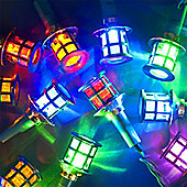 3.9m Chain of 40 Multicolour Static LED Indoor & Outdoor Palace Lights