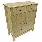 Solid Wood Sideboard 2 Drawer Cabinet - Natural