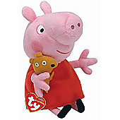 TY Peppa Pig & Friends Beanie Buddy Soft Toy - Peppa Pig