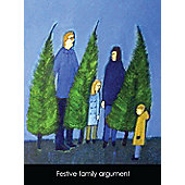 Holy Mackerel Festive family argument Greetings Card