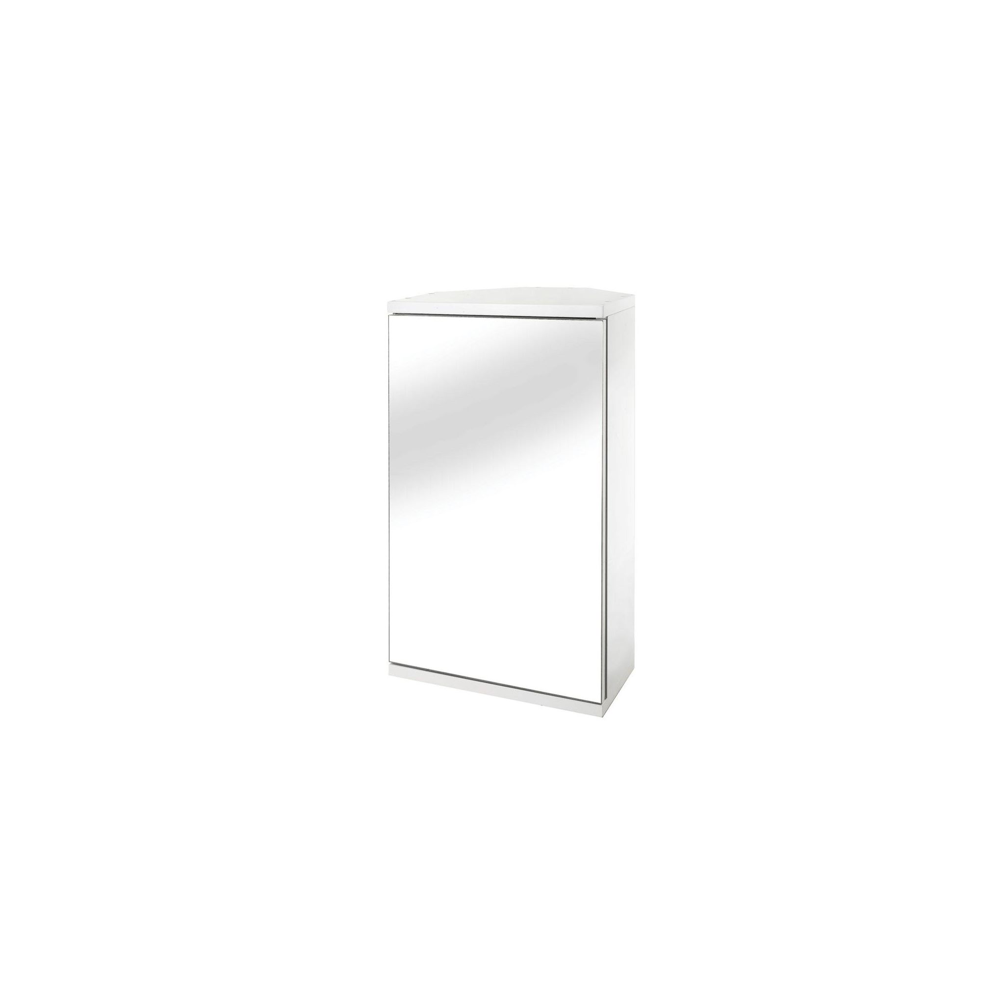 Croydex Simplicity Self-Assembly 1 Door Bathroom Corner Cabinet
