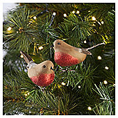 Tesco Robins Tree Decoration, 2 Pack