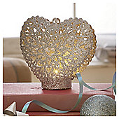 TESCO SPARKLY HEART TEALIGHT
