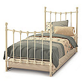 Serene Furnishings Marseilles Guest Bed Frame - Glossy Ivory