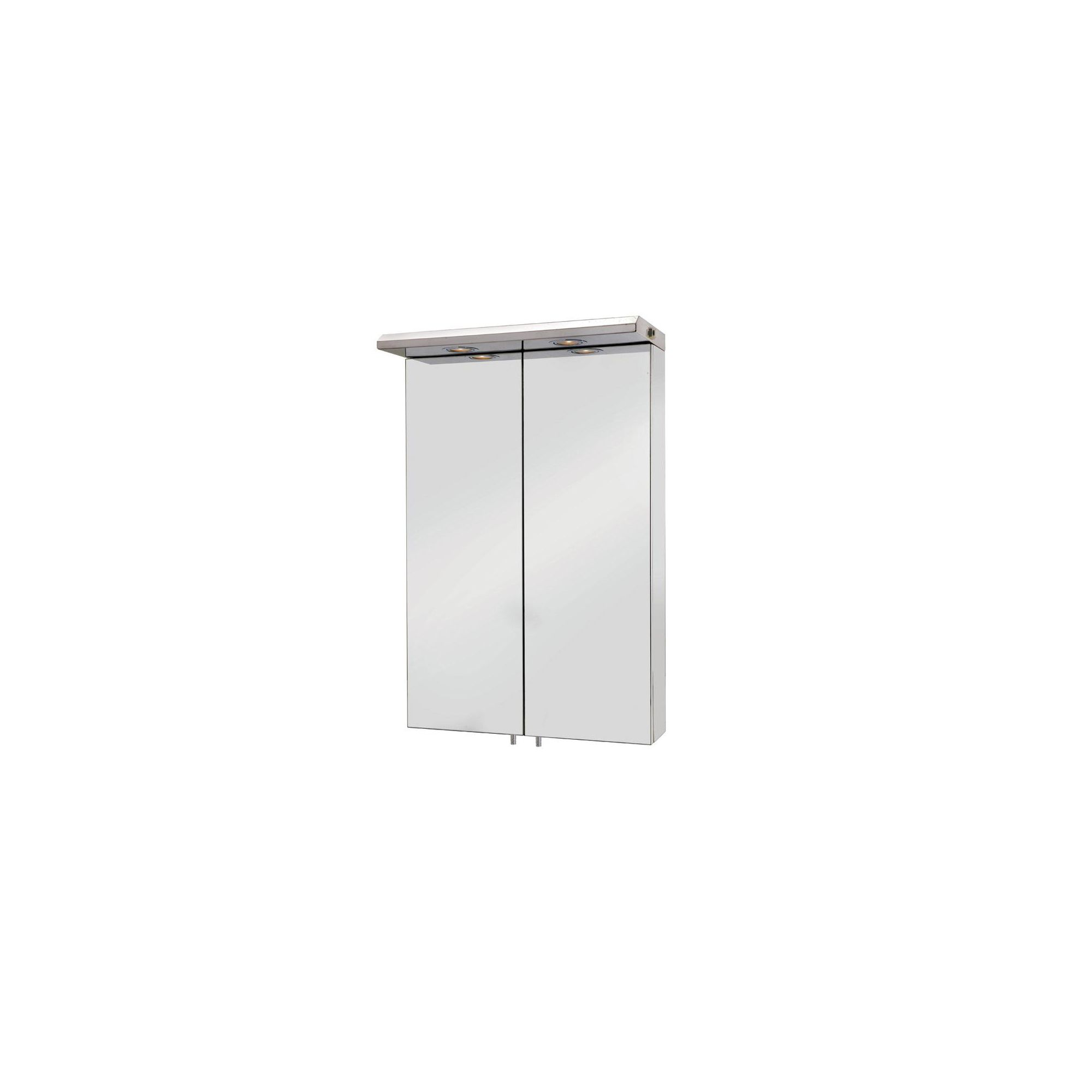 Croydex Colorado Large Double Door Illuminated Stainless Steel Bathroom Cabinet