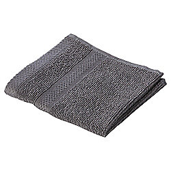 Pure Cotton Facecloth Steel