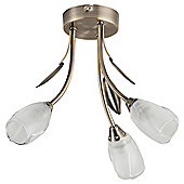 Tesco Lighting Rosebud 3 Arm Ceiling Light