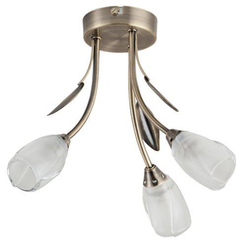 Tesco Lighting Rosebud 3 Arm Ceiling Light