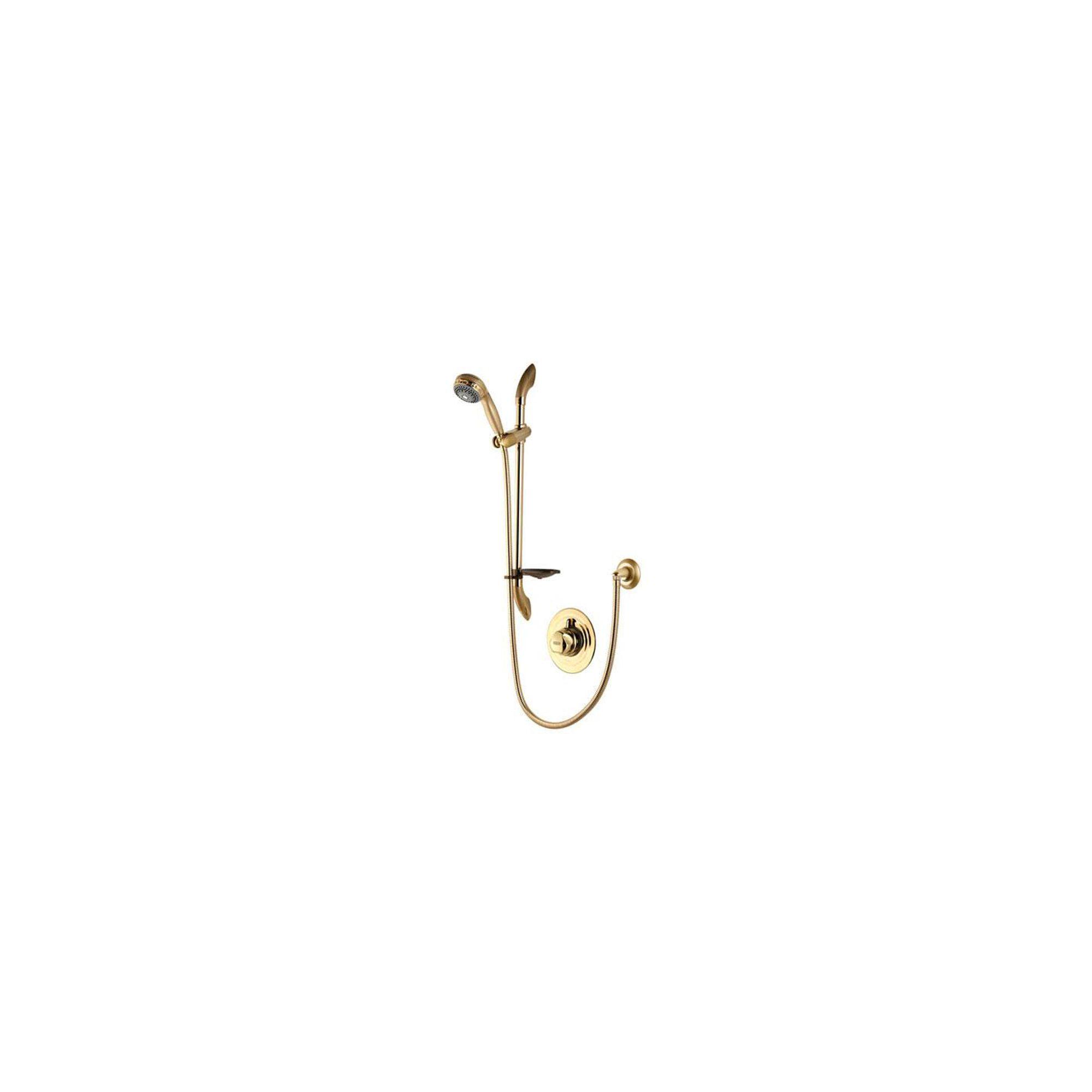 Aqualisa Aquavalve 700 Concealed Shower Valve with Adjustable Shower Head Gold at Tesco Direct