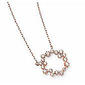 Rose Gold CZ Circle Necklace