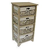 JVL Maize 4 Drawer Wood Cabinet - Earth Wood