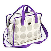 Caboodle Fun & Funky Changing Bag (Stone Spot with Purple Trim)