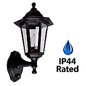 IP44 Outdoor PIR Sensor Wall Light in Black