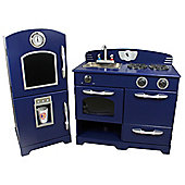 Teamson Kids Navy Play Kitchen (2 Piece)