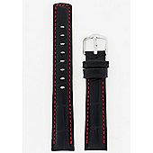 Hirsch Grand Duke Mens Black Leather Watch Strap 02528050-2-22