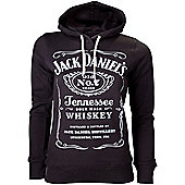 Jack Daniel's Women's Classic Old No. 7 Extra Large Hoodie, Black - Gaming T-Shirts