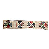 Woven Magic Primitive Sampler Antique Plaids Clover Heart Draught Excluder