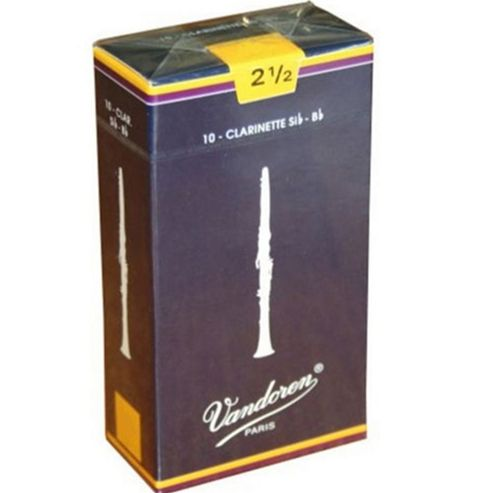 Vandoren 2 1/2 Bb Clarinet Reed (x10)