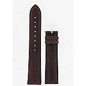 Hirsch Camelgrain Mens Dark Brown Leather Watch Strap 01009015-1-20