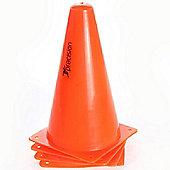 "Precision Training 9"" Traffic Cones (Set of 4) Ideal For All Sports"
