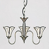 Endon Lighting Three Light Pendant in Satin Nickel