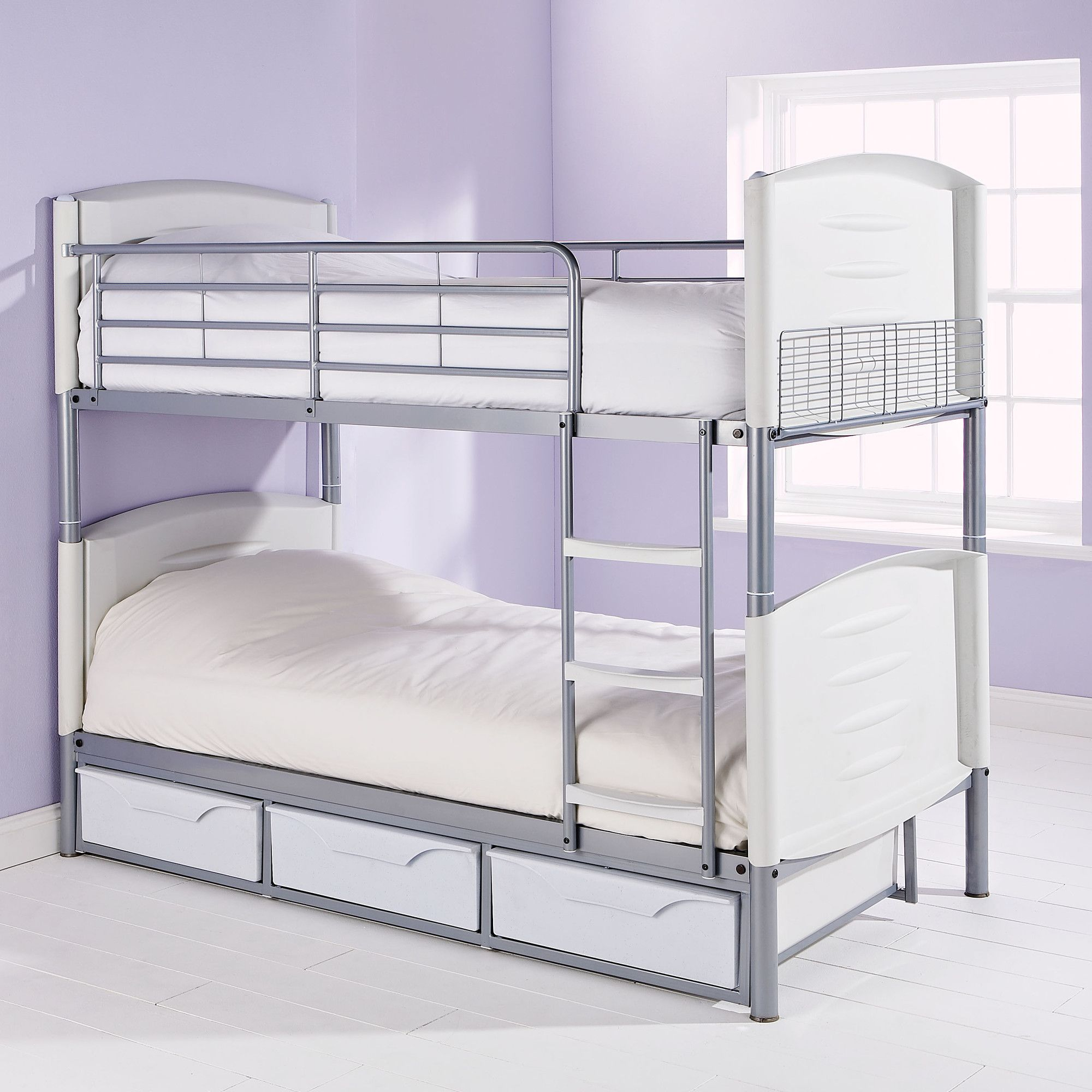 Elements Double Storage Bunk Bed - Pink at Tescos Direct