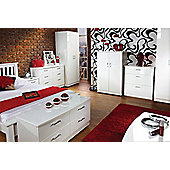 Welcome Furniture Mayfair 3 Drawer Deep Chest - White - White - White