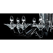 De Majo 7088 Chandelier - 80 cm H x 80 cm Dia - Black and Clear Glass