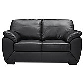 Alberta 2 Seater Leather Sofa, Black