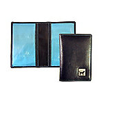 Tyler & Tyler Black Leather Labrador EmblemTravel Card Holder