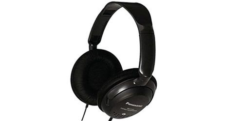 Panasonic RPHT225E-K Monitor Headphones with In-Line Volume Control