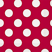 Red Polka Dot Napkins - 2ply