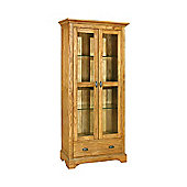 Kelburn Furniture Toulouse Display Cabinet in Medium Oak Stain and Satin Lacquer