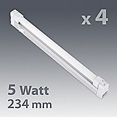 Pack of Four Linkable T5 5W Under Cupboard Fluorescent Lights in Warm White