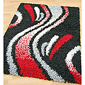 Origin Red Cosmo Black Rug - 150cm x 80cm