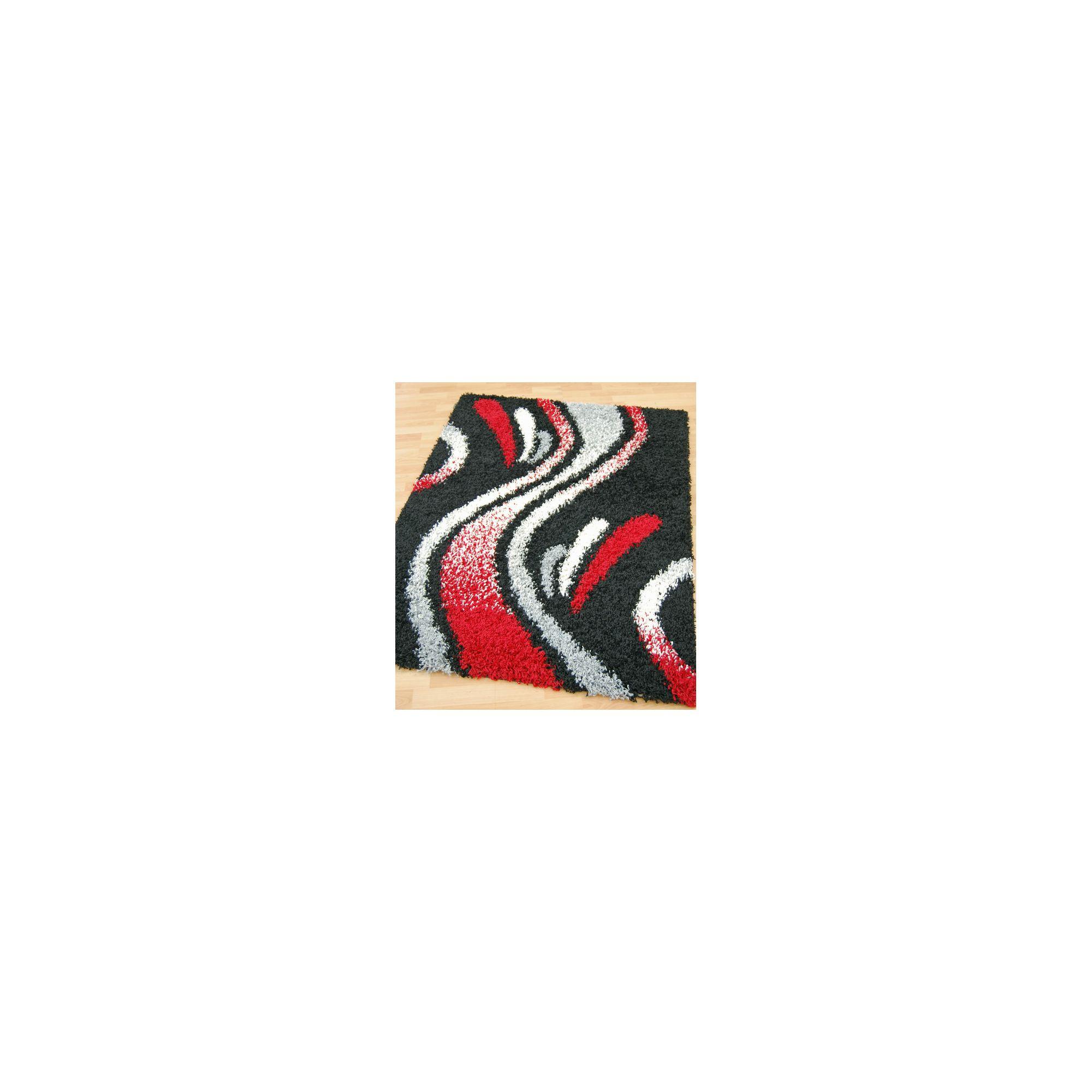 Other Origin Red Cosmo Black Rug - 150cm x 80cm