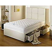 Luxan Serenity Cream 2 Drawers with Headboard 4 6 Divan