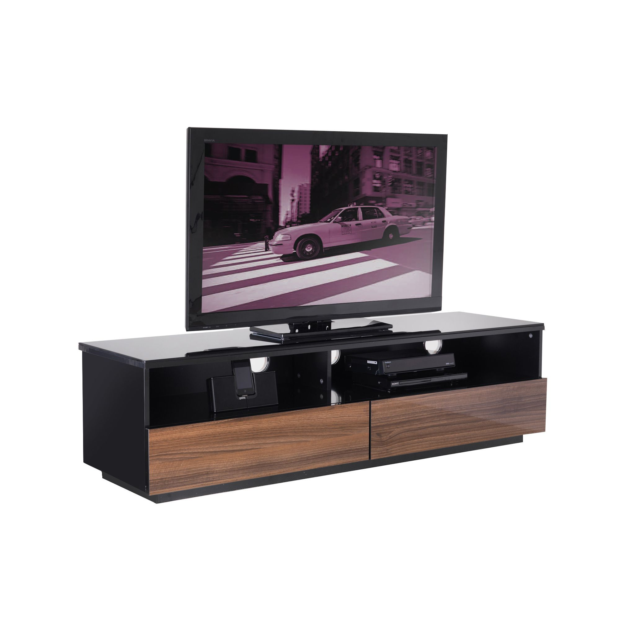UK-CF City Scape New York 60'' TV Stand - Walnut at Tesco Direct
