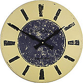 Roger Lascelles Clocks Large Enamel Turret Dial with Blue Centre Wall Clock